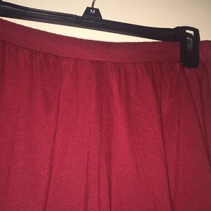 H&M Burgundy Jersey Maxi Skirt